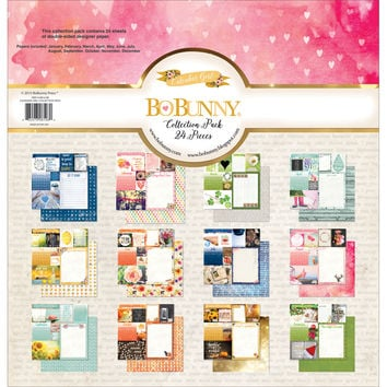 "BoBunny Collection Pack 12""""X12""""-Calendar Girl - January Through December"