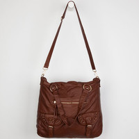Under One Sky Two Pocket Tote Bag Cognac One Size For Women 23031840901