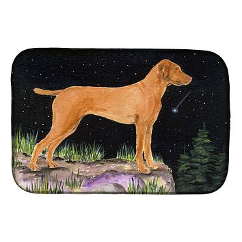Starry Night Vizsla Dish Drying Mat SS8478DDM