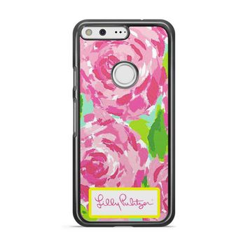 Lilly Pulitzer First Impression Rose Inspired Google Pixel 3 XL Case   Casefruits