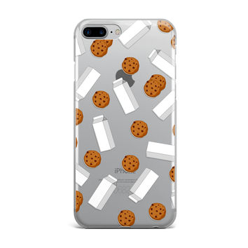Chocolate Chip Cookies and Milk Custom iPhone Case