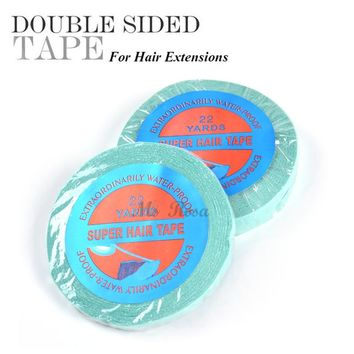 Hair Glue For Lace Wig Supertape Adhesive Tape For Hair 1CM X 22 Yard Lace Wig Tape And Glue Tape Adhesive Hair Extension