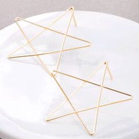 Drawn Star Stud Earrings
