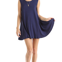 FULL SWING TANK DRESS - NAVY