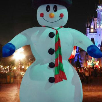 Inflatable Snowman Christmas Yard Art - Commercial Sized