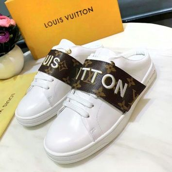 LV tide brand women's casual wild flat-bottomed sneakers