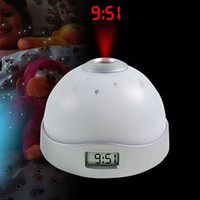 Colorful Projection Digital Clock Three-color LED Magic Clocks with Night Lights Functions For Home Bedroom Decor