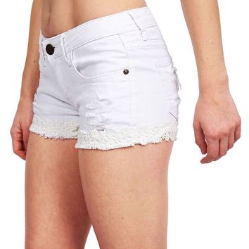 Obscure Crochet Denim Shorts