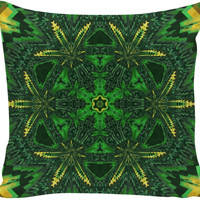 Weed Kaleidoscope Couch Pillow