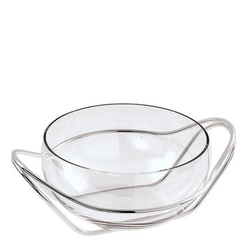 Living Antioxidant alloy Crystal punch bowl with frame