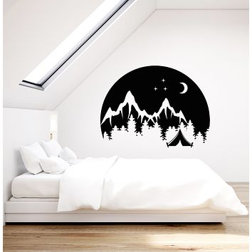 Vinyl Wall Decal Camping Travel Nature Mountains Landscape Stickers (3565ig)