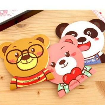 2PCS/LOT GENKKY Stationery cute cartoon facebook notepad, color paper diary, notes this