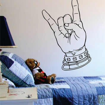 Rock On Music Art Decal Sticker Wall Vinyl