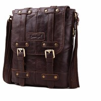 Leather Crossbody Shoulder Messenger Bag