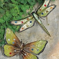 Wall Art | Dragonfly & Butterfly Wall Sculptures