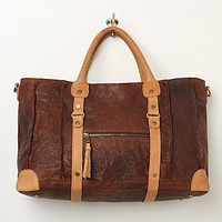 Free People Womens Distressed Leather Weekender - Brown One