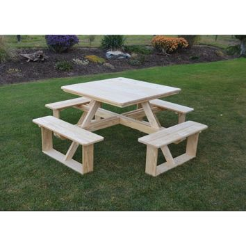 "A & L FURNITURE CO. Pressure Treated 44"" Square Walk-In Table  - Ships FREE in 5-7 Business days"