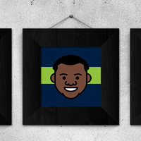 Russell Wilson Poster - Russell Wilson Print - Seattle Seahawks Poster - Seahawks Print - NFL Poster - Football Poster - Boys Room Decor