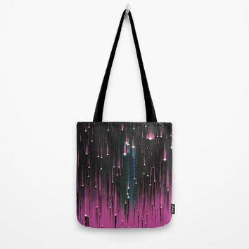 Pink Meteors Tote Bag by DuckyB