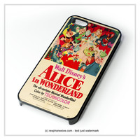 Vintage Disney Poster Alice In Wonderland  iPhone 4 4S 5 5S 5C 6 6 Plus , iPod 4 5 , Samsung Galaxy S3 S4 S5 Note 3 Note 4 , HTC One X M7 M8 Case