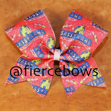 Sassyland Sublimated Glitter Cheer Bow
