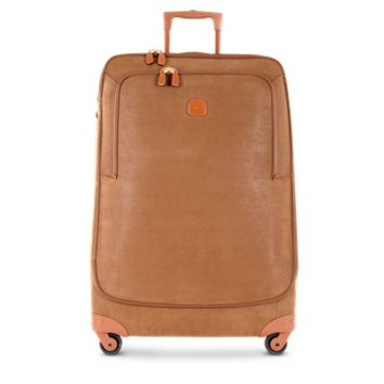 Bric's Designer Travel Bags Life Camel Micro Suede X-Large Trolley