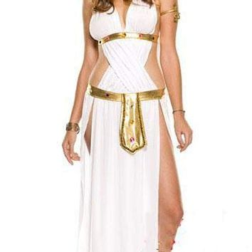MOONIGHT Halloween Sexy Greek Goddess Costume for Women, Roman Goddess Grecian Princess Fancy Long White Dress Macchar Cosplay Catalogue
