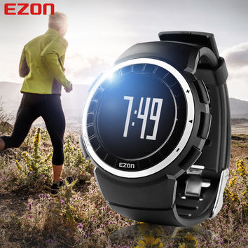 EZON Women Running Outdoor Digital Watch Sports Pedometer 50M Waterproof Calorie Counter Fitness Multifunction Wrist Watch T029