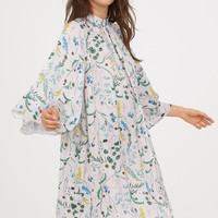 Patterned dress - Light beige/Floral - Ladies | H&M GB