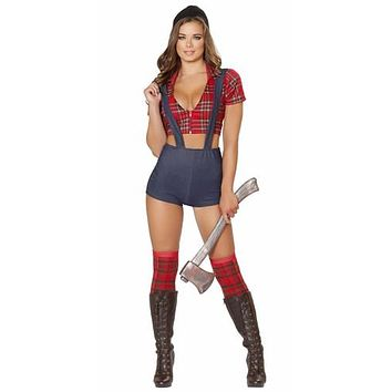 Sexy Pin Up Lumberjack Girl Halloween Costume