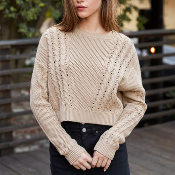 LA Hearts Cable Knit Dolman Pullover Sweater at PacSun.com
