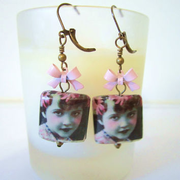 Photo Picture Bead Earrings by 636designs on Etsy