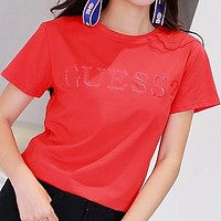 Guess Woman Men Fashion Casual Shirt Top Tee