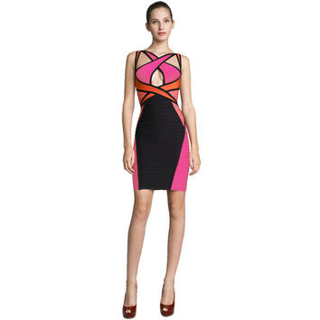 Club Sexy Knit Bandages Dress Evening Party Prom Dress