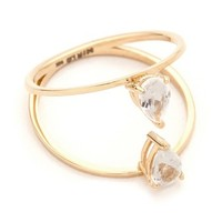 MIRLO Pear Duo Ring