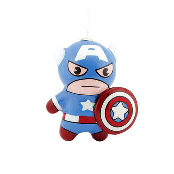 Hallmark Marvel Decoupage Figural Kawaii Ornament - Captain America