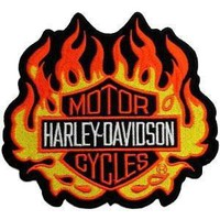 Harley Davidson Flames Patch