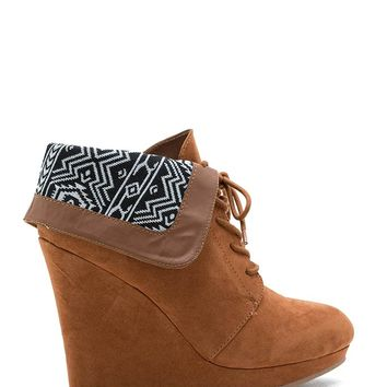 Val 09 Printed Cuff Wedge Boot