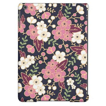 Cute Modern Spring Flower Pattern Girly Floral Case For iPad Air