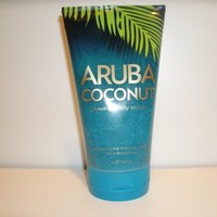 Bath and Body Works Aruba Coconut Glowing Body Scrub- 8 oz