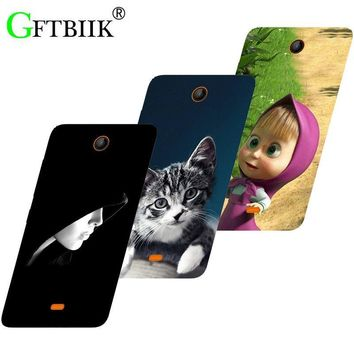 Hot Ultra Thin Back Cover For Nokia Microsoft Lumia 430 Dual Sim Protective Phone Case Horse Dog Cat Handsome Tiger Fruits Cases