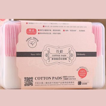 1 box Natural Organic Healty Cotton Pads  Eye Nail Polish Cleaning Pads Facial Cosmetic Cotton Makeup Remover Cleaner