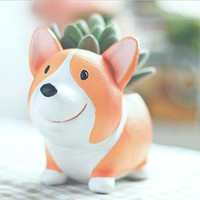 Cute Dog Cartoon Home Decoration Succulent Small Flower Pots