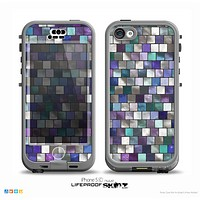 The Mosaic Purple and Green Vivid Tiles V4 Skin for the iPhone 5c nüüd LifeProof Case