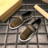 Burberry  Men Casual Shoes Boots fashionable casual leather