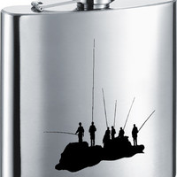 Visol Fishing with Friends Stainless Steel 7oz Hip Flask