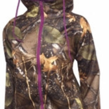 Sizes: S - XL/ World Famous Sports Ladies Woodland Camo Zipped Hoodie