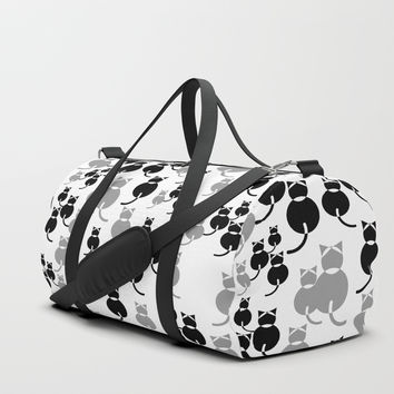 Fat Cats 1 Duffle Bag by mirimo