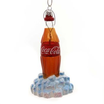 Holiday Ornaments Coca-Cola Glass Bottle Glass Ornament