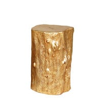 Origin Collection Small Log Stool Side Table - Gold